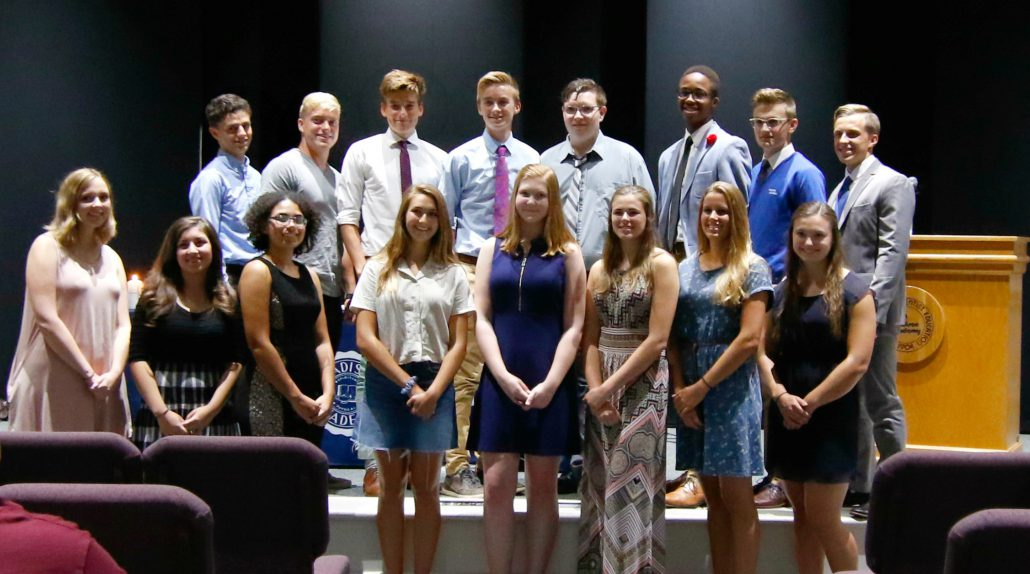Current members of the Madison Academy chapter of the National Honor Society