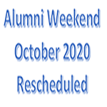 alumni weekend rescheduled